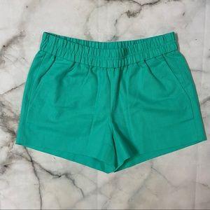 J Crew Green Cotton Shorts